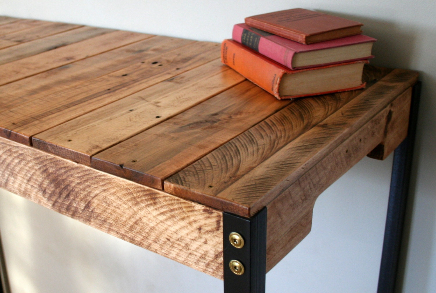 Standing desk industrial rustic reclaimed wood standing desk - How to make rustic wood furniture ...