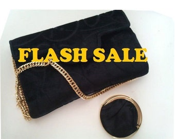 CESARE PICCINI Italy Vintage velvet purse bah 1960 1970