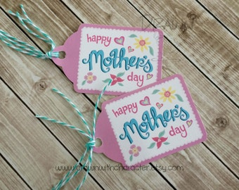 Happy Mother's Day Printable Decorative Tag, birthday, favor, customizable