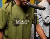 RASTAFARIAN Rasta Rebel Lion Tee Shirt - Green * NEW Sizes Available*  - Small, Medium,Large and XL