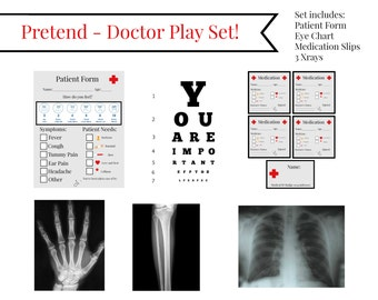 INSTANT Download Dramatic / PRETEND Play DOCTOR Physician Exam  Printable Download