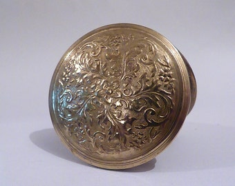 1920's Dhaussy Compact Vintage Compact Gold Repousse Powder Compact Mirror Compact bridesmaids gift pocket mirror antique compact RARE