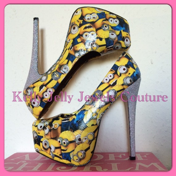 minion high heels size uk 3 8 us 5 10 au by