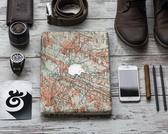 Old New York City Map from the end of 19th Century Skin for Macbook Air & Mac Pro - Trendy One of a Kind Gift