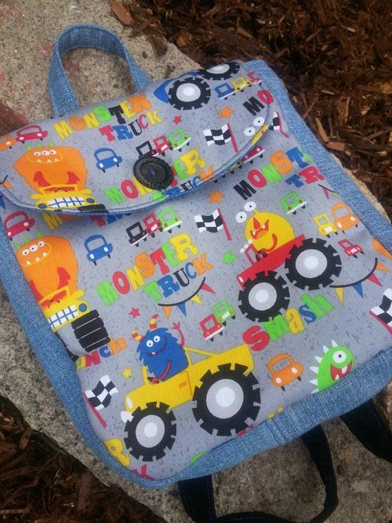 Monster Truck  Toddler Backpack, Boys Backpack
