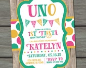 Fiesta Birthday Invitation, UNO Birthday Invitation, Fiesta Invitation, Fiesta Birthday Party, UNO Invitation, First Birthday Invitation