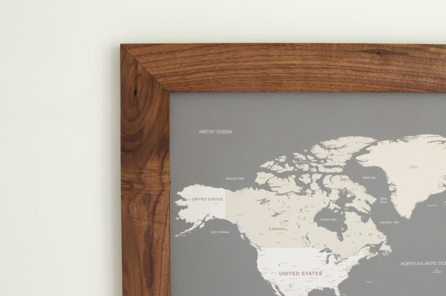 Maps Update  Framed World Travel Map  Personalized World - Us travel map push pin