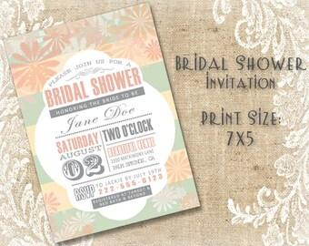 Bridal Shower Invitation - (DIGITAL FILE ONLY)