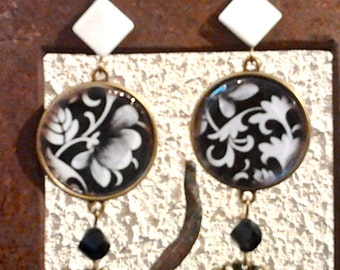 Arabesque earrings Baroque-creating unique fact in FRANCE
