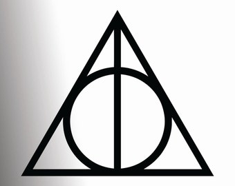 Deathly Hallows - Harry Potter vinyl decal