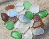 23 pcs of unusual sea glass colors HU-0030 from the Peruvian coast