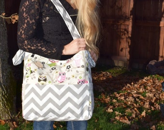 Brownie Gifts Creamy Owls Diaper Bag and Clutch/ Zulily