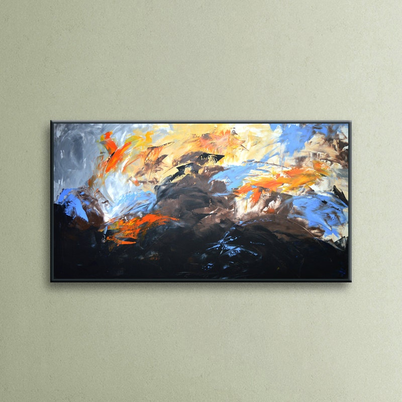 Abstract Painting Original Acrylic Wall Art Large By EditVorosArt