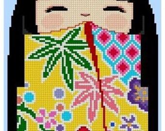 Kokeshi Girly Doll -KYOKO -Cross Stitch Pdf