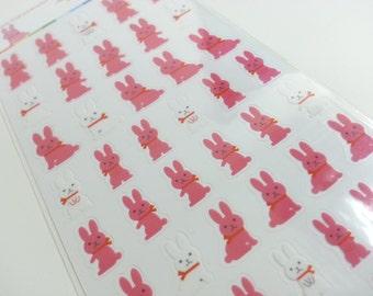 Lovely Rabbit Sticker B - 1 sheet