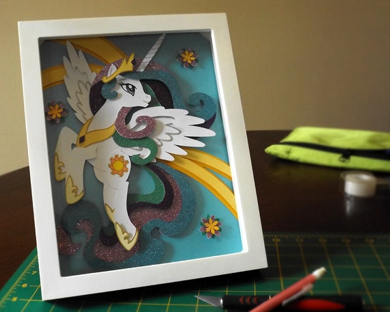 Princess Celestia Shadow Box