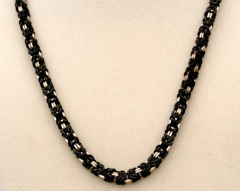 Black and Champagne Byzantine Necklace
