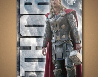 """THOR """"For The First Time In My Life"""" Movie Quote Poster"""
