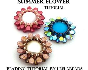 Summer Flower - PDF beading pattern - Instant Download