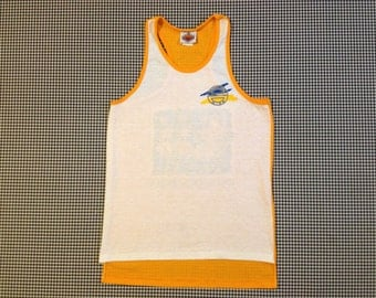 "1980's, ""World Wide Bones,"" surfer tank top, Women's size Medium, Men's size Small/XS"