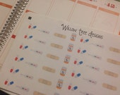 Sick Day planner stickers.. Made for Paper Plum, Erin Condren, Happy Planner,  Filofax SHIPPING INCLUDED