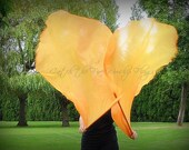 3050-ORANGE Shimmer (single layer; pair) angel wings Catch the Fire Worship Flags