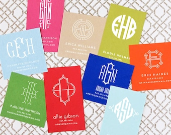 Square - Personalized Monogram Calling Cards