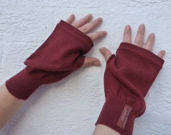Mens gloves large fingerless mittens merino wool handwarmers womens mittens winter gloves handmade large mittens mens gift gloves wool mitts