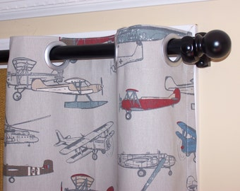"Blackout Curtains, Childrens Curtains, Curtains With Grommets,  Nursery Curtains, Boys Curtains, Width 24"" or 50"""