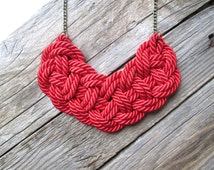 Red Rope Necklace Knot necklace