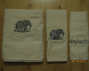 ELEPHANT 3 Piece Towel Set