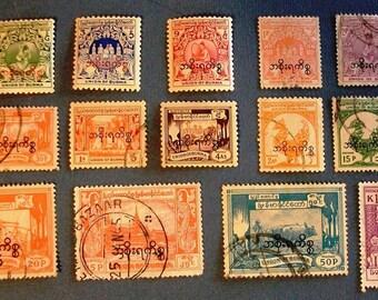"1944-64  Burma  ""Overprints""  Service Stamps"