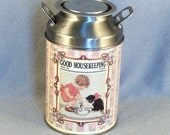 Vintage Good Housekeeping Tin //  Milk Bottle // Cute Picture // Boy & Kitty // Collectible // A Bit Rare