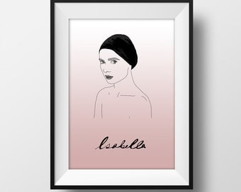 SUPER SALE*** Isabella Poster -Isabella Rossellini - Graphic Illustration A4 - Art Print