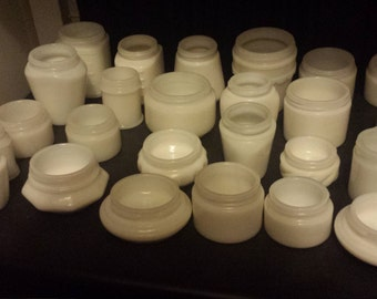 Small Milk Glass Pots