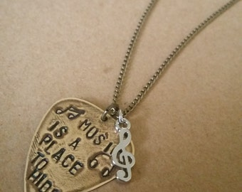 Hanson Lyric Necklace with Custom Charm and Design Charm