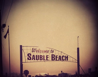 Beach Photography - Square Wall Decor - Fine Art Photography Print, Neutral, Rustic, Sauble Beach, Vintage