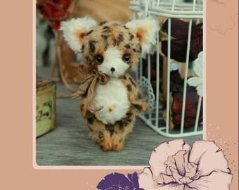 Pattern for 4,7 Inch Kitten Teddy PDF