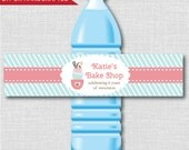 Bake Shop Party Water Bottle Label - Baking Birthday Party - Weatherproof Water Bottle Labels - Digital or Handcrafted - FREE SHIPPING