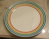Syracuse China 9.5 inch Serving Dinner Plate with Rainbow Colors
