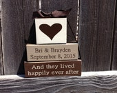 Personalized name wedding blocks-And they lived happily ever after
