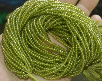 AAA Quality Olive Quartz Rondelle Faceted 2.80-3 mm Approx.,13 inch Strand