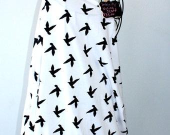 Nursing Cover Scarf - Infinity Nursing Scarf - Breastfeeding - Birds in Flight White - SassyStorkCanada