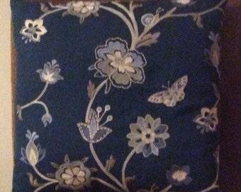 18x18in ESME Cobalt pillow cover