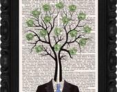 Mr. Flowering Tree print Home Decor Tree Wall Decor DICTIONARY ART PRINT Wall Art Tree Poster Painting