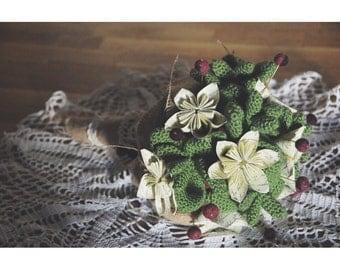 Wedding crochet bouquet