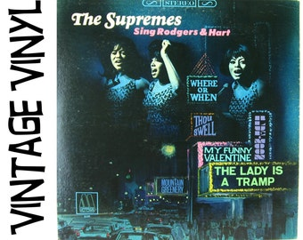 The Supremes Sing Rodgers and Hart, Vintage Vinyl Record, Diana Ross, 1967 Motown MS659, Motown Records, Jazz Standards, 1960s Vinyl LP