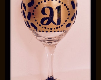 Hand Painted Wine Glasses, Cougar Animal Print Wine Glasses, Personalized Wine Glasses, Wine Glasses with Bling, Birthday Wine Glasses