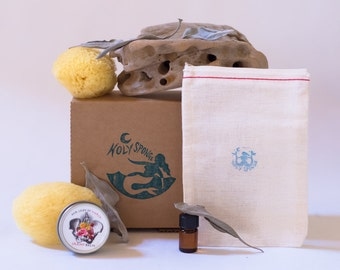 Ritual Sea Sponge Kit with 1/2 oz. Our Lady of Mercy Cramp Balm