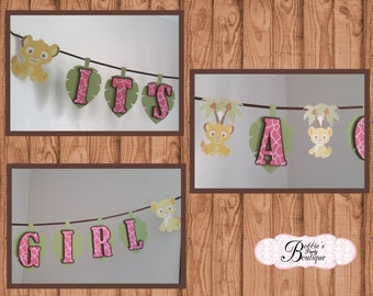"Nala Baby Shower, Lion King ""It's a GIRL"" Baby Shower Banner, It's a GIRL Banner! Lion King Baby Shower Banner, Lion King Baby Shower, Nala"